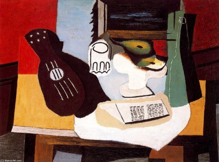 PABLO-PICASSO-GUITAR-GLASS-AND-FRUIT-BOWL